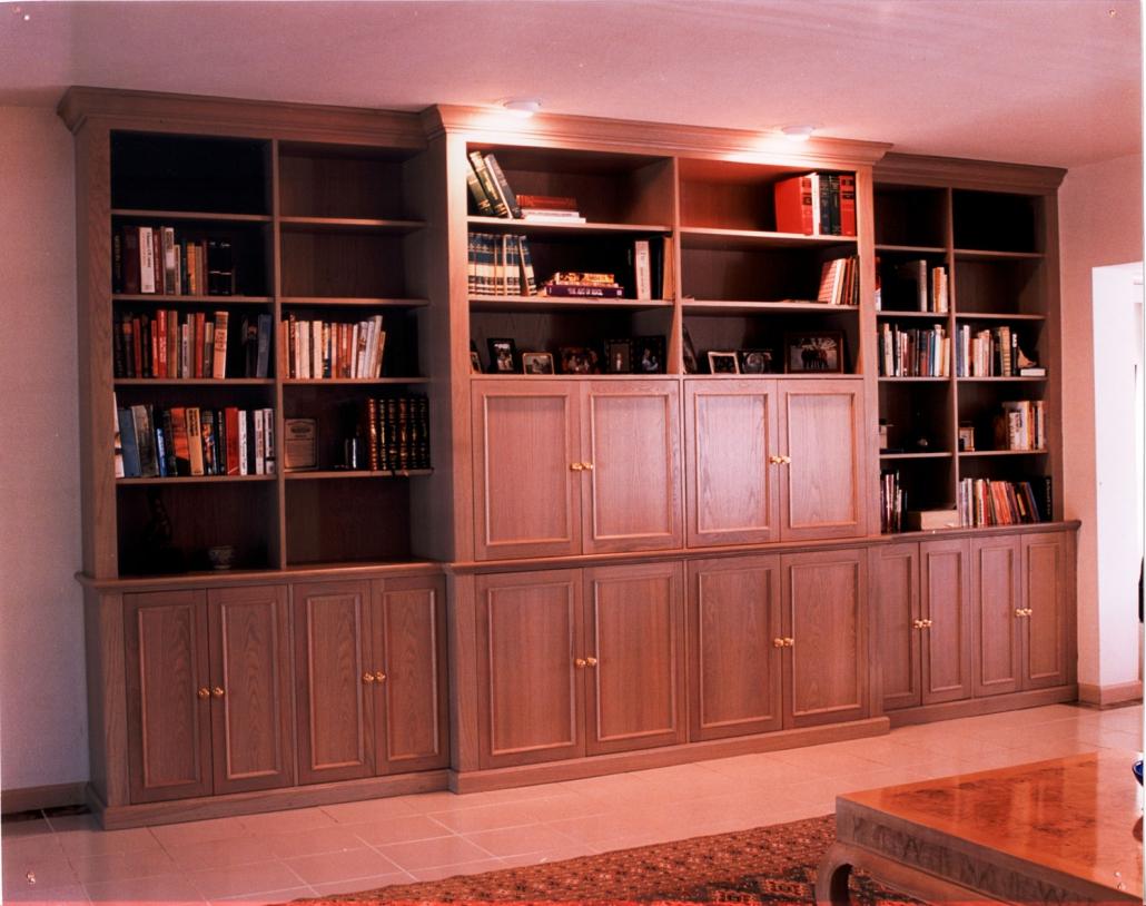 Oak bookcase tv unit
