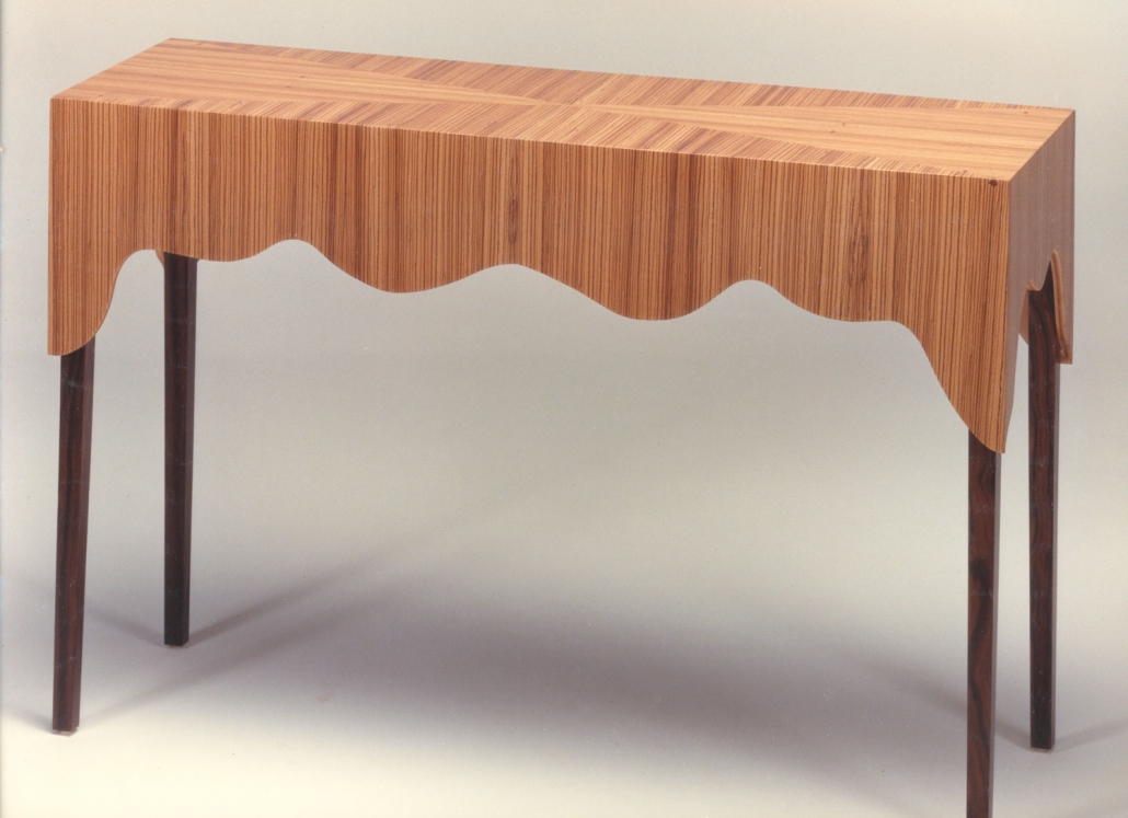 Zebrawood console table